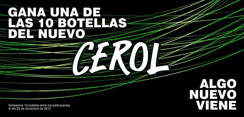 ¡¡¡Gana una botella del Nuevo Cerol – Sorteamos 10!!!!
