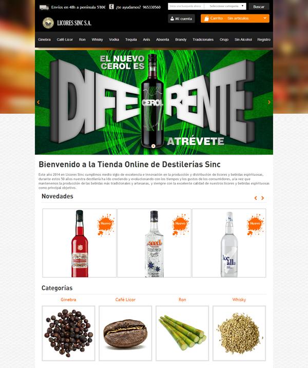 Inauguramos la nueva tienda online de Licores Sinc