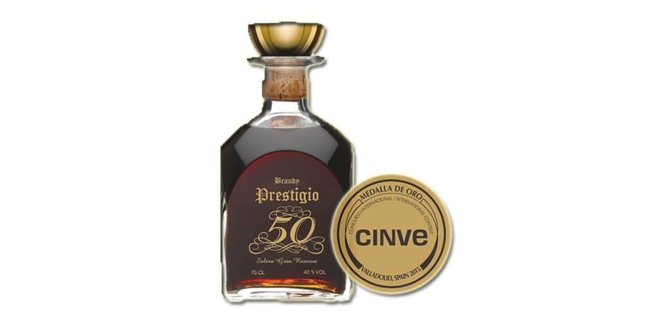La elegancia del Brandy Prestigio 50Imagen Destilerias Sinc