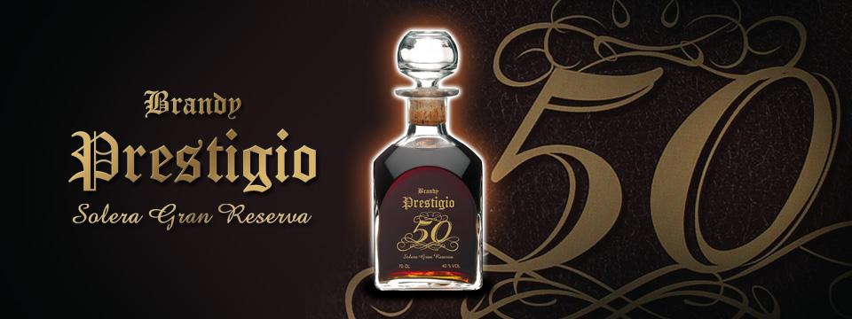 La elegancia del Brandy Prestigio 50