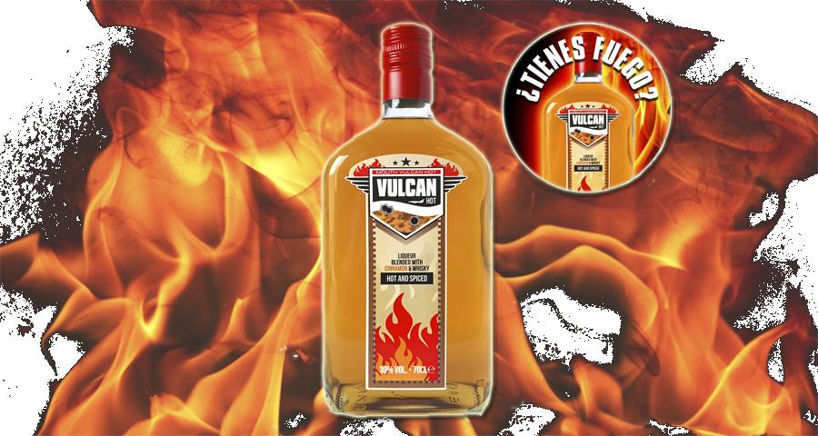 Mouth Vulcan Hot, fuego embotelladoImagen Destilerias Sinc