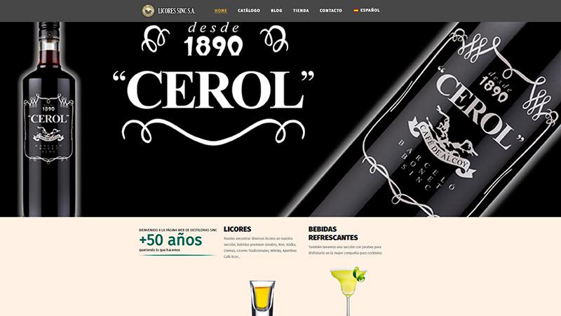 En Licores Sinc estrenamos nuevo diseño web